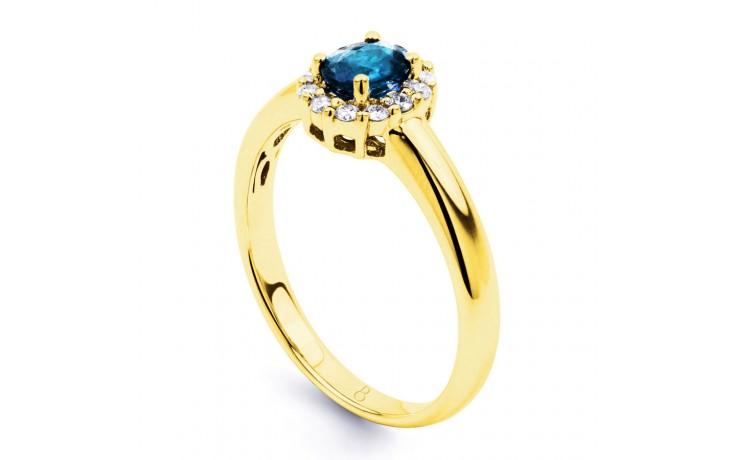Aya Blue Topaz Halo Ring product image 2