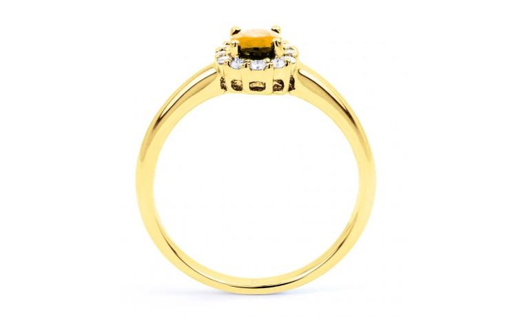 Aya Citrine & Diamond Halo Gold Ring  product image 3