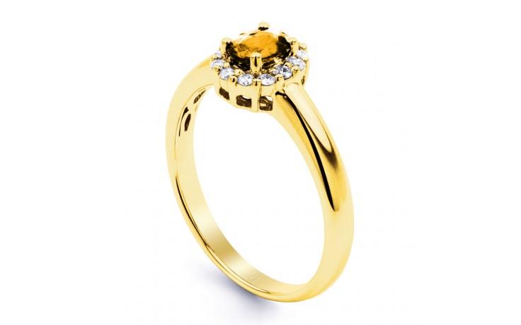 Aya Citrine & Diamond Halo Gold Ring  product image 2