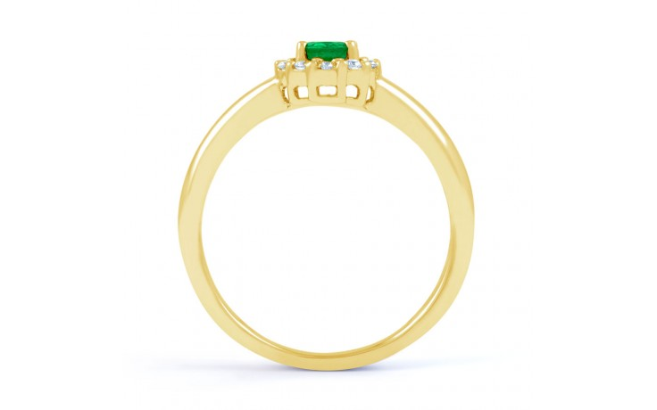 Aya Emerald Halo Gold Ring  product image 3