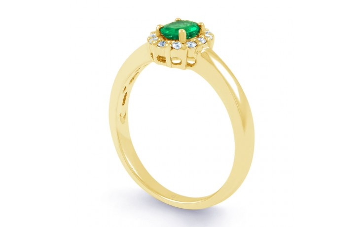 Aya Emerald Halo Gold Ring  product image 2