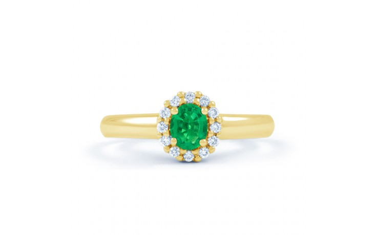 Aya Emerald Halo Gold Ring  product image 1