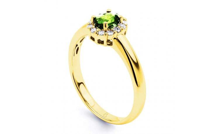 Aya Peridot & Diamond Halo Gold Ring product image 2
