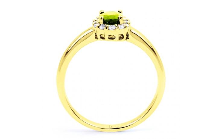Aya Peridot & Diamond Halo Gold Ring product image 3