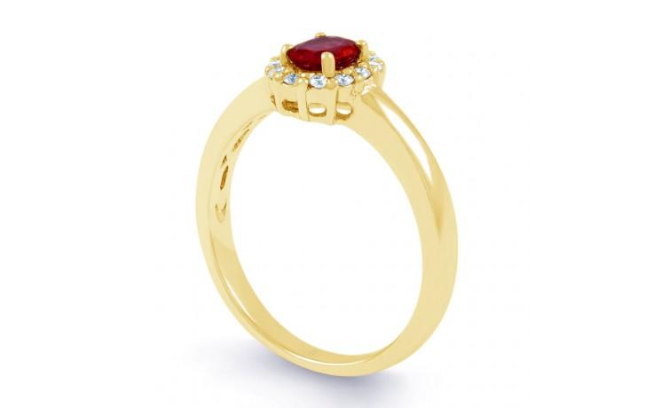 Aya Ruby & Diamond Gold Ring product image 2