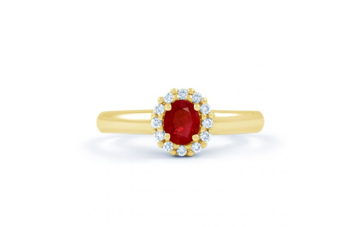 Aya Ruby & Diamond Gold Ring product image 1