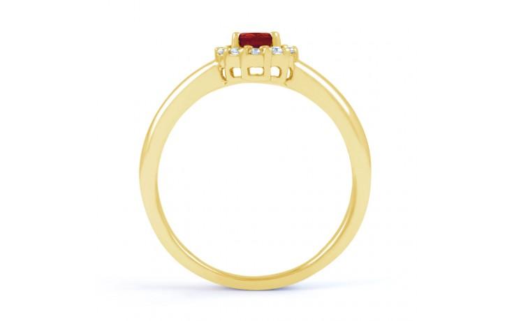 Aya Ruby & Diamond Gold Ring product image 3