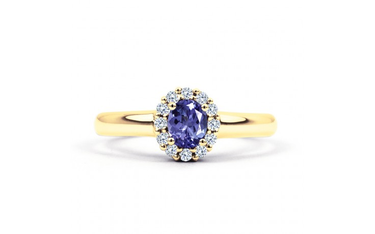 Aya Tanzanite Halo Gold Ring  product image 1