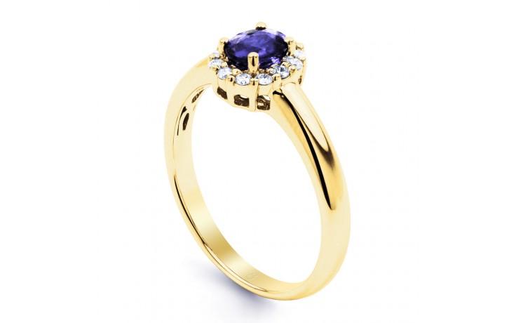 Aya Tanzanite Halo Gold Ring  product image 2