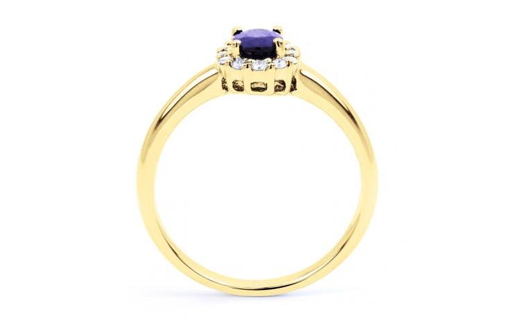 Aya Tanzanite Halo Gold Ring  product image 3