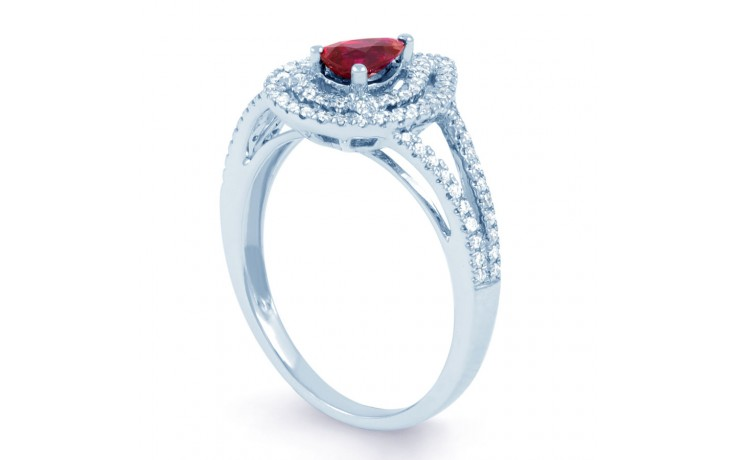 Ruby Double Halo Ring product image 2
