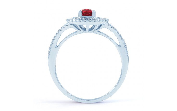 Ruby Double Halo Ring product image 3