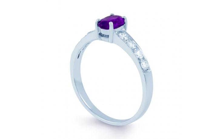 Mira Amethyst & Diamond Ring product image 2