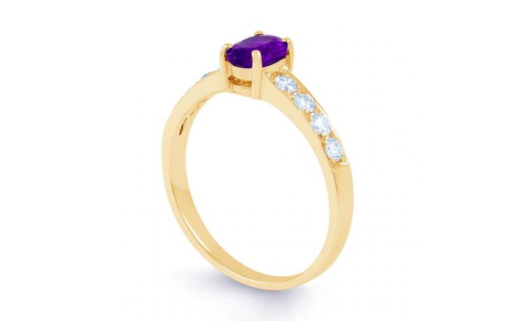 Mira Amethyst & Diamond Gold Ring product image 2