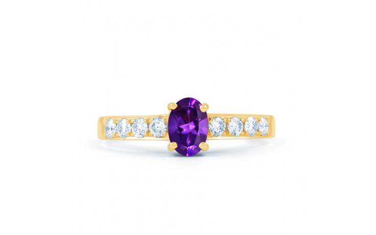 Mira Amethyst & Diamond Gold Ring product image 1
