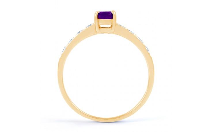 Mira Amethyst & Diamond Gold Ring product image 3