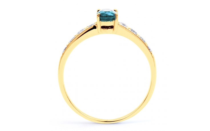 Mira Aquamarine Ring In Yellow Gold product image 3