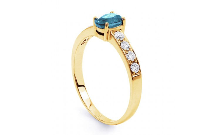 Mira Aquamarine Ring In Yellow Gold product image 2