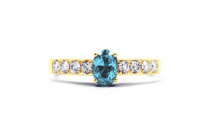 Mira Aquamarine Ring In Yellow Gold product image 1