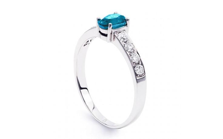 Mira Blue Topaz & Diamond Ring product image 2