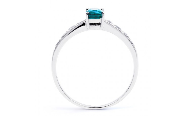 Mira Blue Topaz & Diamond Ring product image 3