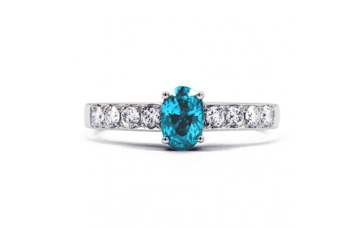 Mira Blue Topaz & Diamond Ring product image 1