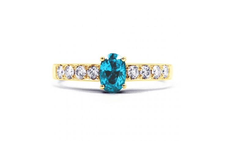 Mira Blue Topaz & Diamond Gold Ring product image 1