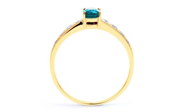 Mira Blue Topaz & Diamond Gold Ring product image 3