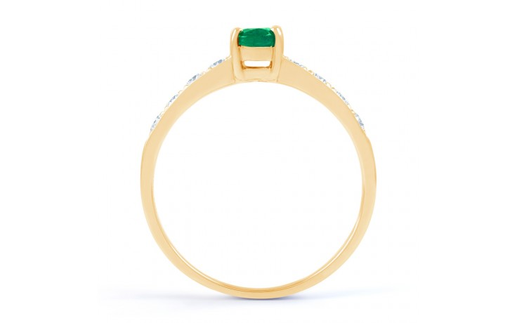 Mira Emerald Gold Ring product image 3