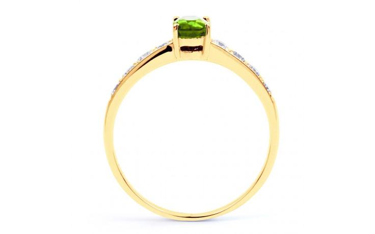 Mira Peridot & Diamond Gold Ring product image 3