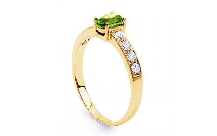 Mira Peridot & Diamond Gold Ring product image 2