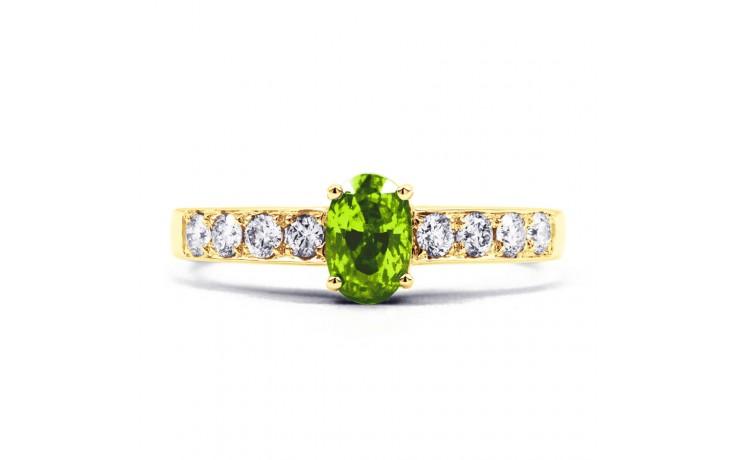 Mira Peridot & Diamond Gold Ring product image 1