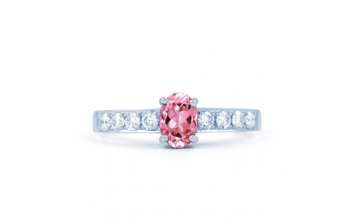 Mira Pink Sapphire Yellow Gold Ring product image 1