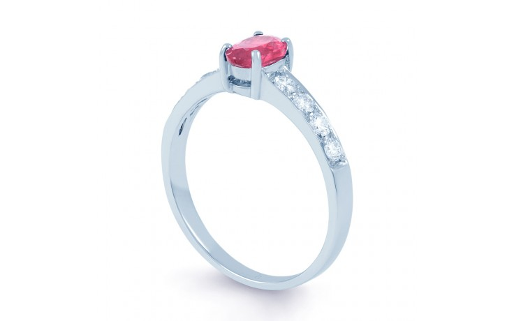 Mira Pink Sapphire Yellow Gold Ring product image 2