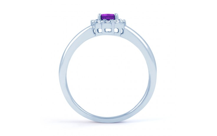 Aya Amethyst Halo Ring product image 3