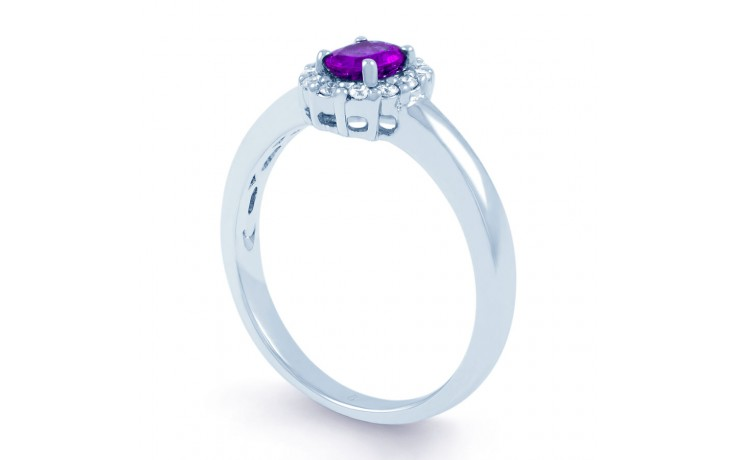 Aya Amethyst Halo Ring product image 2