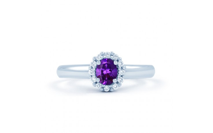 Aya Amethyst Halo Ring product image 1