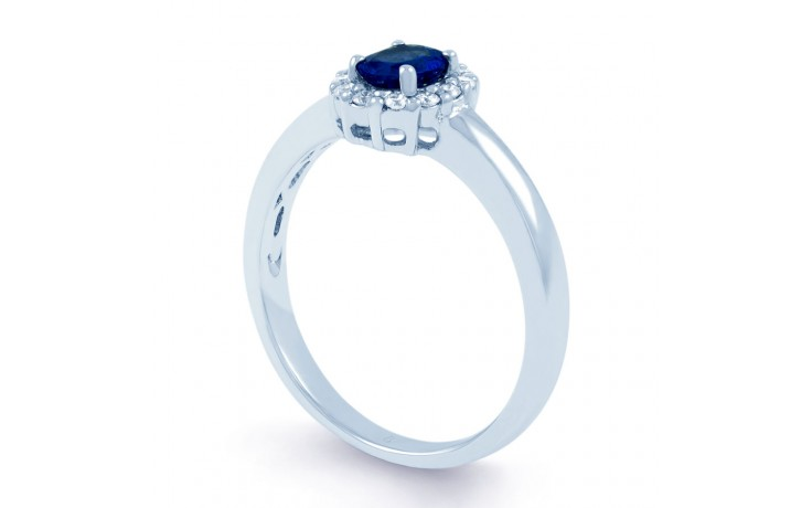 Aya Blue Sapphire Halo Ring product image 2