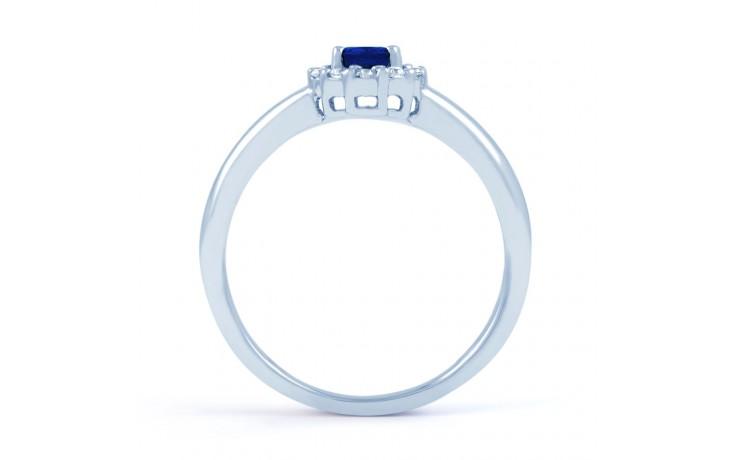 Aya Blue Sapphire Halo Ring product image 3
