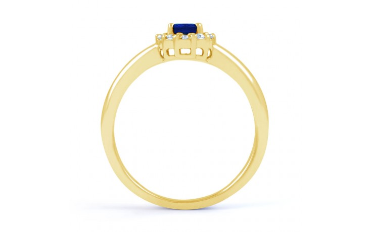 Aya Blue Sapphire Halo Gold Ring product image 3