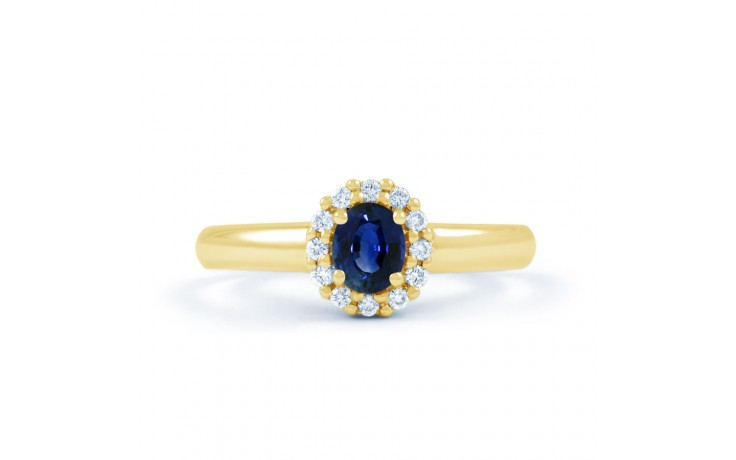 Aya Blue Sapphire Halo Gold Ring product image 1