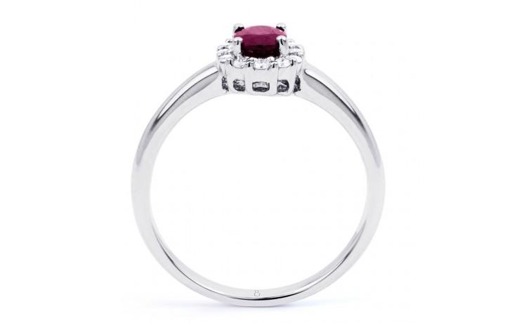 Aya Gold Pink Sapphire and Diamond Halo Ring product image 3