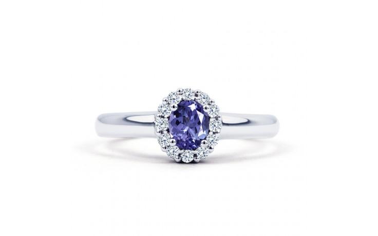Aya Tanzanite Halo Ring product image 1
