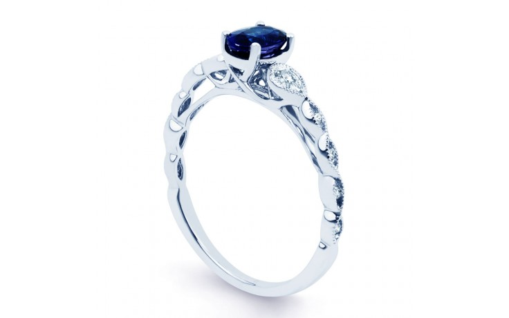 Milgrain Blue Sapphire Ring product image 2