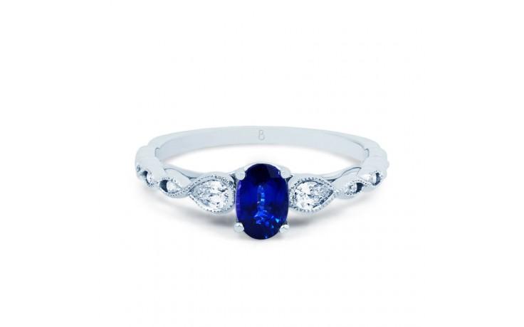 Milgrain Blue Sapphire Ring product image 1