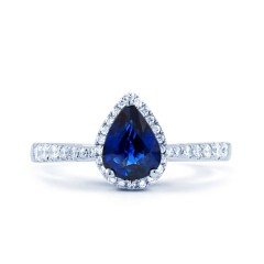 Shiva Pear Sapphire Engagement Ring image 0