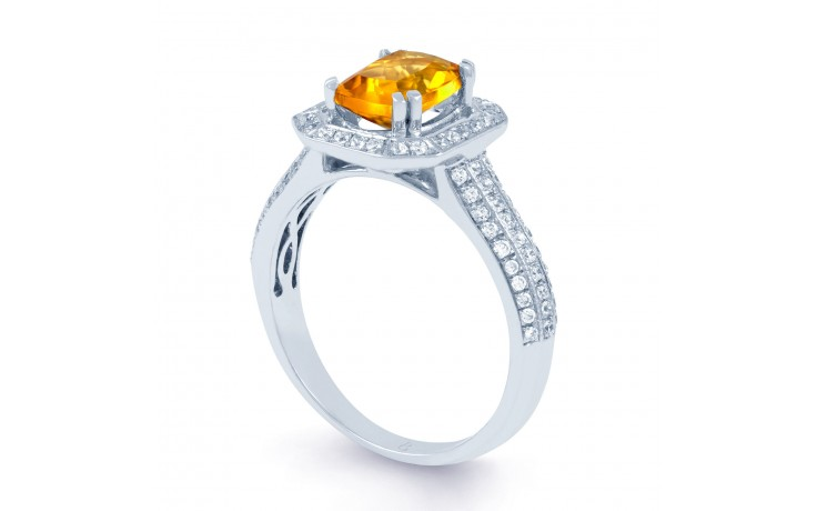 Citrine & Diamond Cluster Ring product image 2
