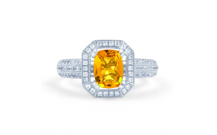 Citrine & Diamond Cluster Ring product image 1