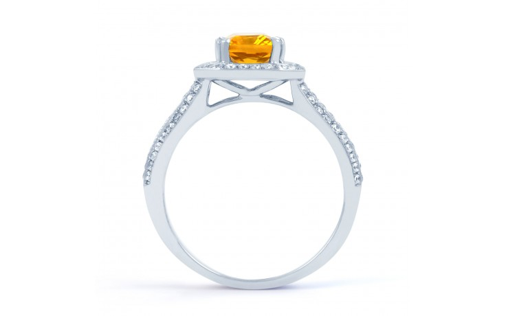 Citrine & Diamond Cluster Ring product image 3