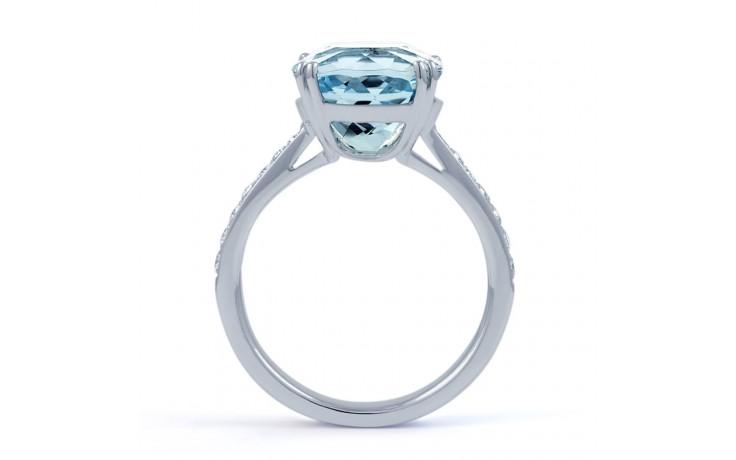 Ceto Aquamarine Ring In White Gold product image 3